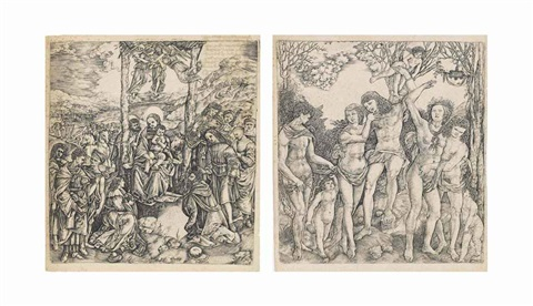 the adoration of the magi and man tied to a tree by eros allegory of love 2 works by cristoforo di michele robetta