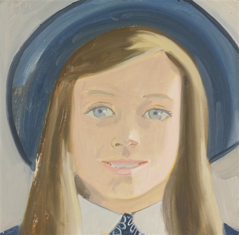 amanda with grey background by alex katz