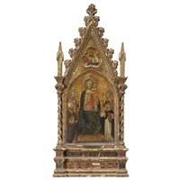 san madonna col bambino e santi; cristo benedicente by maestro di niccolo