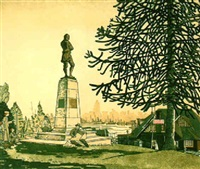 memorial to robbie burns - stanley park, bc by orville fisher