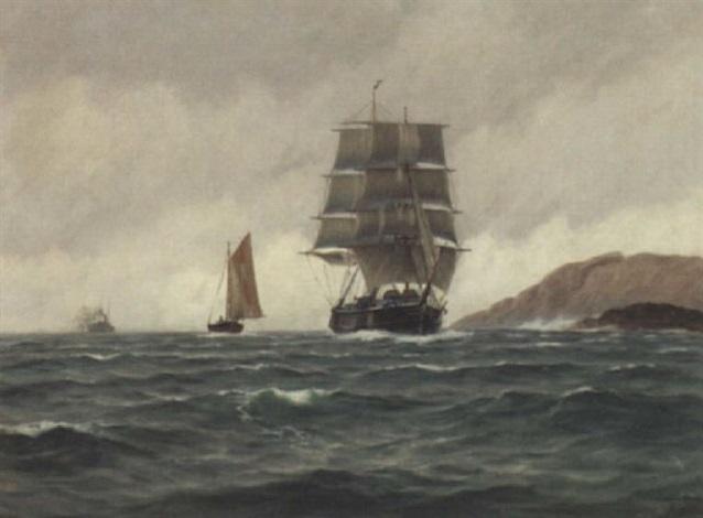 seilskute skoyte og dampskip by zackarais martin aagaard