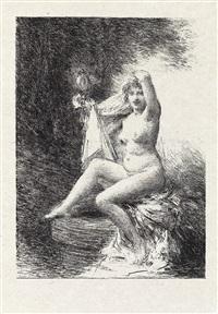 vision * baigneuse debout * vérité (4 works) (from gazette des beaux-arts) by henri fantin-latour