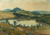landschaft aus dem raum benešov (blick auf chvojen) by ladislav sima
