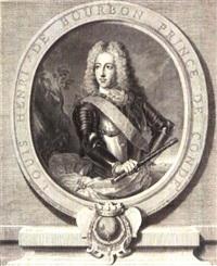 louis-august de bourbon, prince de dombes (+ louis-henri de bourbon, prince de condé; 2 works) by gérard edelinck