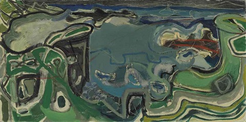 clodgy st ives 1951 by patrick heron