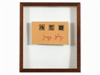 3 stamps, signed & with fiu stamp by joseph beuys