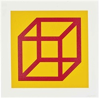 one plate, from: open cube in colour on colour by sol lewitt