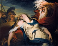 king lear weeping over the body of cordelia by james barry