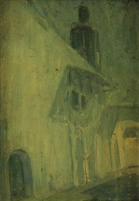 the house (wall) in blue by henry ossawa tanner