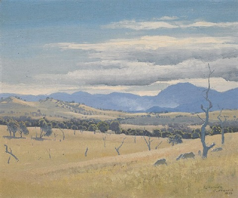 landscape, federal territory by elioth gruner