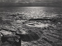 the atlantic from schoodic point, acadia national park, maine by ansel adams