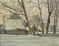 winter in zakopane by stanislaw kamocki