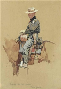 a packer, fort grant, arizona by frederic remington