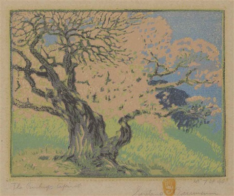 the bishops apricot by gustave baumann
