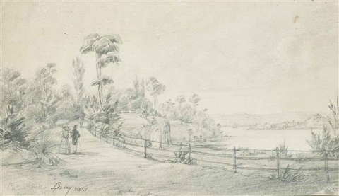 a view of sydney new south wales by charles rhodius rodius