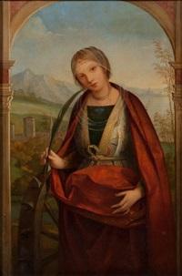 sainte catherine by bernardino di bosio zaganelli
