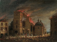 fire - the dominican church in krakow by teodor baltazar stachowicz