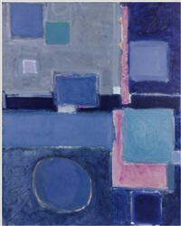 blue painting (squares and disc): august 1958 - february 1959 by patrick heron