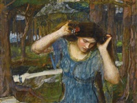 vain lamorina, a study for lamia by john william waterhouse