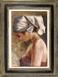 young girl by attilio alfieri
