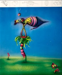 critters and roses on fook island & anatomy of the flying fook (set of 2) by norman clive catherine