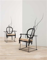 déambule chairs (+another; 2 works; one larger) by vincent dubourg