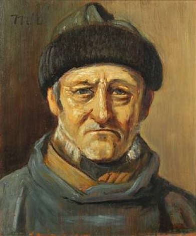 a fishermans portrait by michael peter ancher