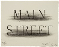 main street (from harvey gantt portfolio) by ed ruscha