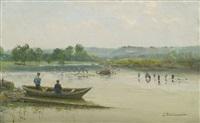 fishermen near liège by ivan pavlovich pokhitonov