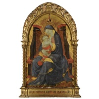 the madonna and child enthroned by paolo uccello