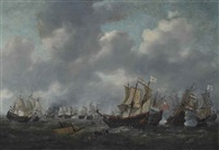 the battle of leghorn, 4th march, 1653, during the first anglo-dutch war (1652-54) by reinier nooms