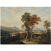 an extensive view of the clyde, with dumbarton rock in the distance by jane nasmyth