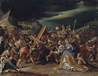 le portement de croix by hans von aachen