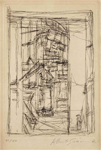 intérieur au poêle (lust 70) by alberto giacometti