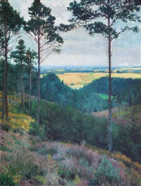 view from the woods by friedrich (fritz) ahlers-hestermann