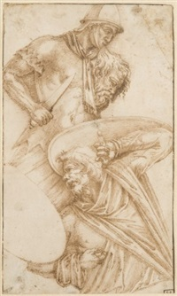 une partie de la colonne trajane (study) by ippolito andreasi