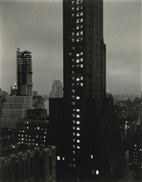 evening, new york from the shelton by alfred stieglitz