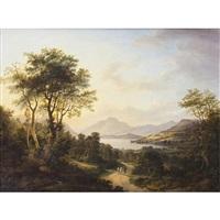 a highland loch at sunset by jane nasmyth