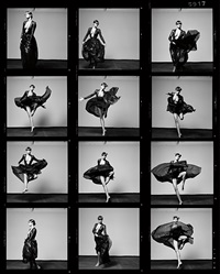 helena christensen vii (contact sheet) by michel comte