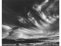 moon and clouds, northern california by ansel adams