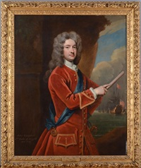 portrait of john campbell, 2nd duke of argyll, in red coat and wearing the order of the garter by william aikman