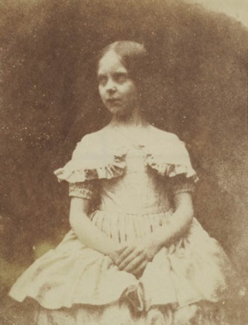 portrait of talbots daughter ela by william henry fox talbot