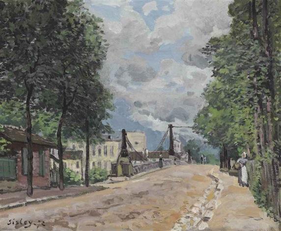 la route de gennevilliers by alfred sisley