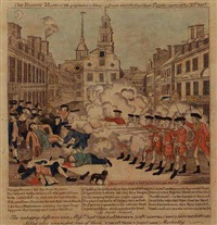 the bloody massacre perpetrated in king street, boston... by paul revere