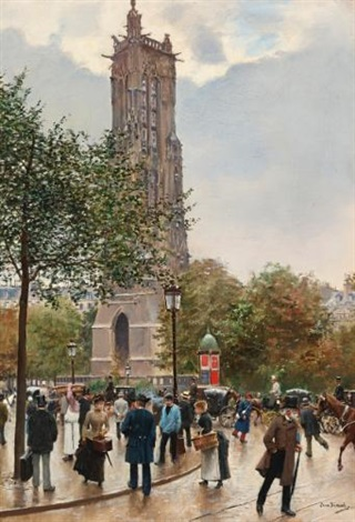 la tour saint jacques by jean béraud
