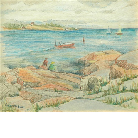 bass rocks, east gloucester, massachusetts by reynolds beal