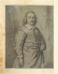three quarter length portrait of a gentleman by cornelis visscher
