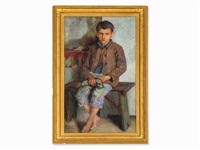 boy with letter by nikolai petrovich bogdanov-bel'sky