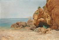scene near ischia by heinrich tomec