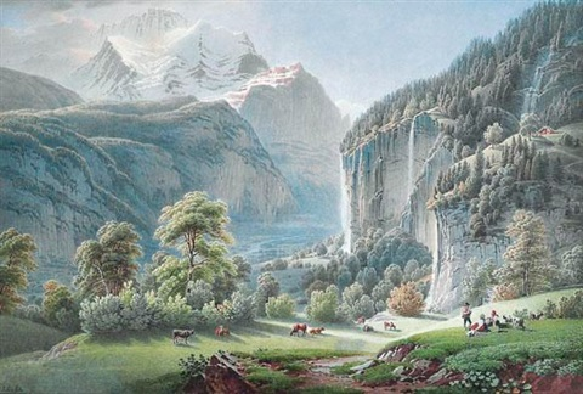 vallée de lauterbrunnen by gabriel ludwig lory